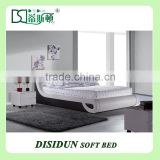 cheap price slat base platform bed king size queen size wholesale furniture in China DS-8022