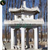Double decked Chinese white marble gazebo