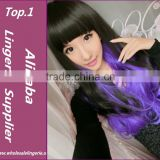 New Fashion Harajuku Cosplay Anime Wig Young Heat Colorfull Ombre Wig Party Synthetic Wigs With Bangs