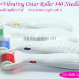 Red light therapy for anti-aging skincare derma rollers (Ostar Roller)