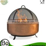 Stainless Steel Hammered Copper Fire pit Wood Burning Bowl