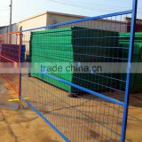 Used Red colour 6ft temporary movable fence / powder coated fence / Canada temporary fence panels / metal fence exported to Ca
