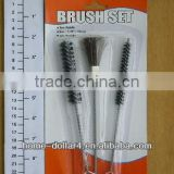 short black with steel handle plastic tube cleaning brush