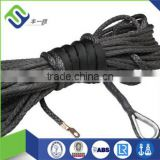 12 strand uhmwpe synthetic rope , black 3/8' synthetic winch rope , best synthetic winch rope