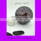 Handmade Ruby Red Glass Polished Large Crackle Glass Balls Ornaments