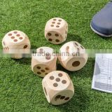 Wooden dice game set of 5 pcs