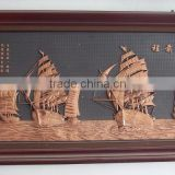 home hanging wall decor reliefs in bronze with boat sailing