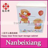 2016 Lovely and Safe 3 Layers Baby Plastic Clothing Drawer