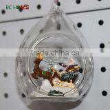 2015 resin figurine inside christmas wholesale glass ball ornaments