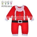 2016 Hot Sale Christmas 100 Cotton Clothing Baby Pyjamas Wholesale