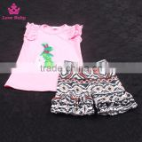 Wholesale Baby Girls Embroidered Short Summer Outfits Kids Cotton Summer Clothes Set
