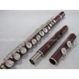 Professsional ALTO Flute-Silver Plated-Rose Wood Wooden-G Key