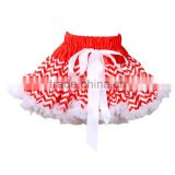 new fashion baby girl's ruffled ballet skirt adorable design cheap price bow floral chiffon chevron skirt