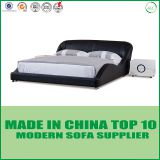 Modern bedroom furniture classical black leather bed LB2212