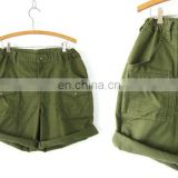 Army green Boy Scouts shorts Elastic Waist shorts baggy Camp Shorts Vacation Wear Beach Shorts