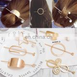 Hot Sale Metal Circle hollow Hair Sticks Alloy Tiara Hair Clips for Women