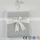 Nice packaging baby knitted blanket wholesale