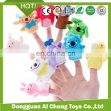 Dongguan Manufacturer Customize cheap and high quality plush animal finger puppet toy for baby