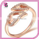 2015 love heart Plain Design Gold Plated Zircon Engagement Rings For Women And Girls Newest Triangle Shape Ring