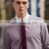 Dogtooth Shirt And Tie Set With Collar Pin