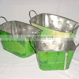 Recycled Tin Garden Planters Set of 3