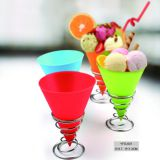 Silicone  Ice Cream Tools, silicone ice cream cup with stainless steel hold
