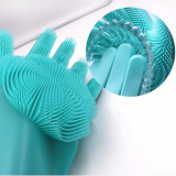 Magic Cleaning Kitchen Silicone Scrubber Gloves For Washing
