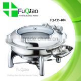 Luxury Hydraulic Stainless Steel Chafing Dish with Ceramic Pan                                                                         Quality Choice
