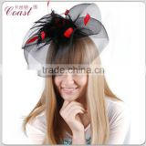 black carnival feathered headdress party fancy hair accessories