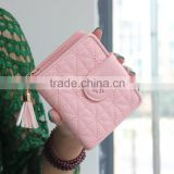 Multicolor Pink Blue Blck fashional de Ultimos moda ID card bank card Holder wallet cartera para dama