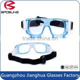 Adjustable elastic strap soccer protective eyewear clear unbreakable lens paintball outdoor sports goggles