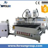 China supplier double spindle 3d cnc router for woodworking, cnc wood cutting machine for wooden door, furniture with low cost
