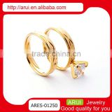 Top selling wholesale fashion jewelry dubai gold diamond couple rings