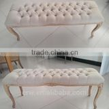 WH-4136 High Quality Antique White Bench Seat Ottoman                                                                         Quality Choice