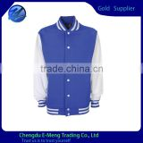 High Quality 100%Polyester Custom Made Jacket in contrast color for Men 2015