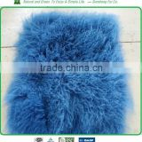 Mongolian lamb fur pillows and rugs