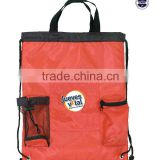 Promotional Nylon Drawstring Sport Backpack With Mesh Pocket