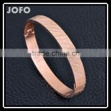 Urban 316L Stainless Steel Rose GoldPlated Pattern Bracelet Bangle Men Women Handcuff SMJ0061