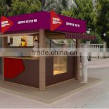 100% wholsale manufacturer Hot dog kiosk design stret food kiosk for sale fast food cart kiosk