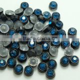 Fashion 6mm and 8mm Round Hot Fix Alloy Studs, Black Nickel, Gold Metal Setting Hotfix Round Studs for Garment