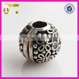 925 sterling silver Clasp stopper Beads Flower Charm beads for Snake Chain Bracelet