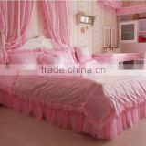 Duvet Cover Lace Printed Bedding Set/Elegant lace embroidery design comforter bedding sets