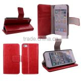 book style magnetic wallet case for iphone 5 with photo frame
