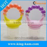 Amazon hot selling silicone baby feeder in colorful design                                                                                                         Supplier's Choice
