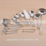 84pcs gold plated cutlery of stainless steel 430 material and made in Jieyang factory directly