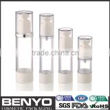 Promotional Attractive Airless lotion pump bottle 50ml cylinder round plastic bottle with cap