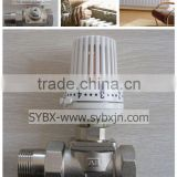 "china supplier brass 1"" low resistance thermostatic radiator valve(straight way valve)"