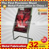 customized made restaurant metal pavement sign stand frame