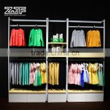 ZJF U shaped baby shop garment display rack