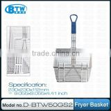 Standard Iron Wire Fryer Basket for Deep Fryer, Used in Commercial Kitchen